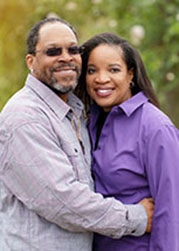 Michelle Carroll & husband, Lou
